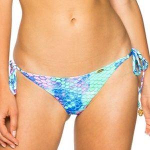 Luli Fama Brazilian Scrunch Bikini Mermaid Print